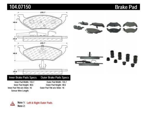 Disc Brake Pad Set fits 1997-2000 Plymouth Voyager Grand