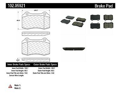 C-TEK Metallic Brake Pads fits 2004-2007 Volvo S60 S60,V70  C-TEK BY CENTRIC