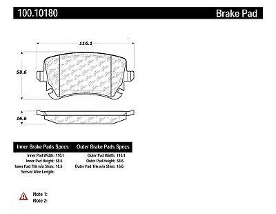 Disc Brake Pad Set-GT Rear Centric 100.10180