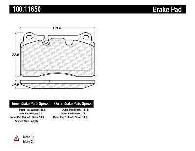 Disc Brake Pad Set-OE Formula Brake Pads with Hardware Front,Rear Centric