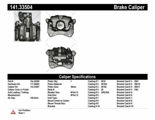 Disc Brake Caliper fits 1987-1993 Audi 90 100 200 CENTRIC