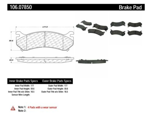 Disc Brake Pad Set fits 2003-2009 Hummer H2 CENTRIC PARTS