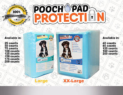 Pooch Pad Protection Training Dog Pads. Thick & Soft, XTRA Absorbent Puppy -