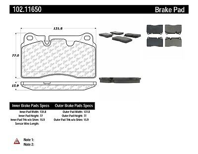 Disc Brake Pad Set-ZR1 Front,Rear Centric 102.11650