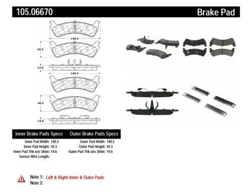 Disc Brake Pad Set fits 1997-2001 Mercury Mountaineer