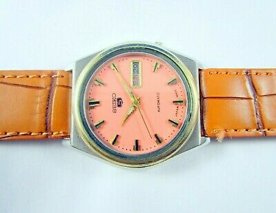VINTAGE SEIKO 5 AUTOMATIC DAY-DATE JAPAN WRIST WATCH # Q12