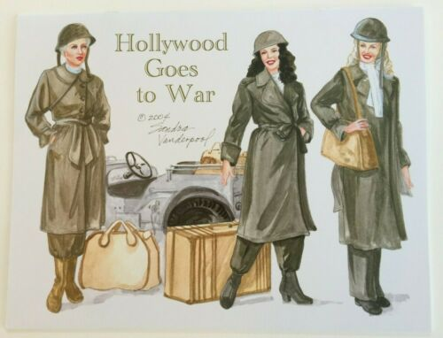 HOLLYWOOD GOES TO WAR PAPER DOLL, WWII era stars & fashions by Sandra Vanderpool