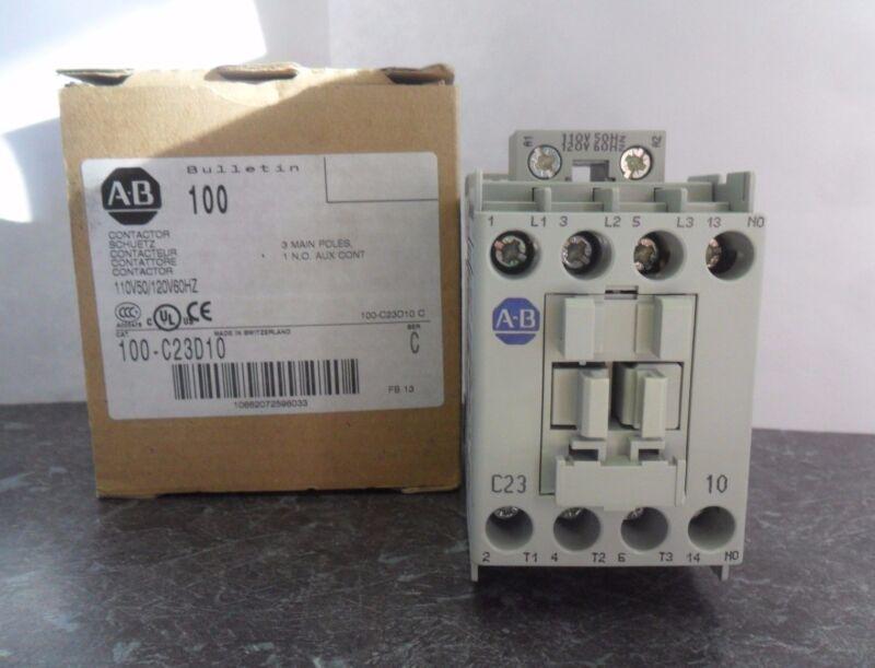 New Allen Bradley 100-C23D10 Contactor 3 Pole Series C NIB