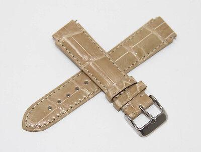 TechnoMarine Genuine Louisiana Alligator Leather Watch Strap 17MM Sand 17R - Genuine Louisiana Alligator Strap