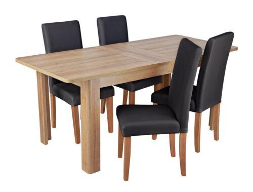 7fe56215cffd Argos Home Holborn Gloss Pedastal Table   4 Chairs - Black
