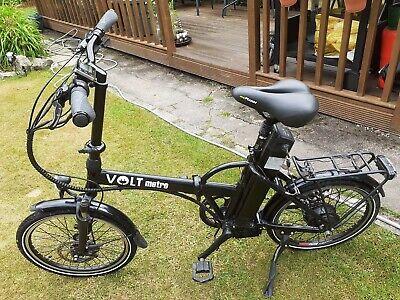 Volt Metro LS Black Folding Commuter Electric Bike.
