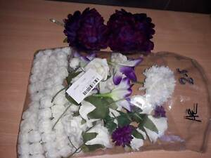 New and used packet of assorted fake47silk flowers in white47 new and used packet of assorted fakesilk flowers in whitepurple mightylinksfo