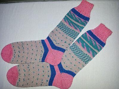1Paar handgestrickte Socken Gr.38/39 Regia Pairfect 4-fach
