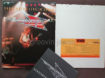 VANDENBERG Live In Japan JAPAN-ONLY VHD w/Picture Slip Case+Insert VHM68057