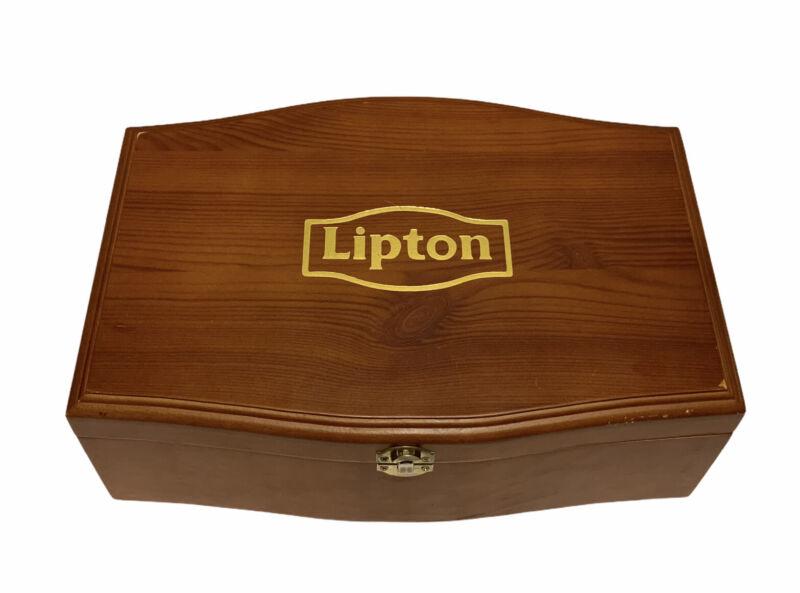 Lipton Wooden Hinged Box LL 12x8x4 Clasp Felt