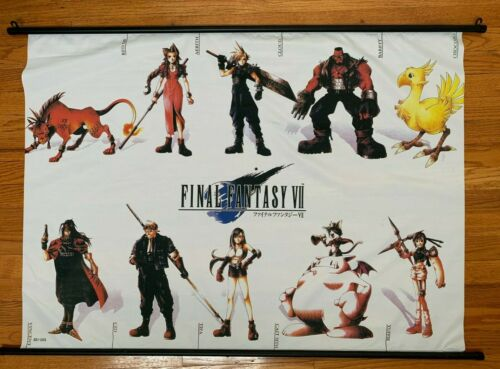 Final Fantasy VII Anime Fabric Wall Scroll 43 x 31 inches