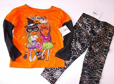 Girls Size 2T Wickedly Cute 2-Piece Shirt and Leggings Halloween Outfit - Cute Halloween Outfits