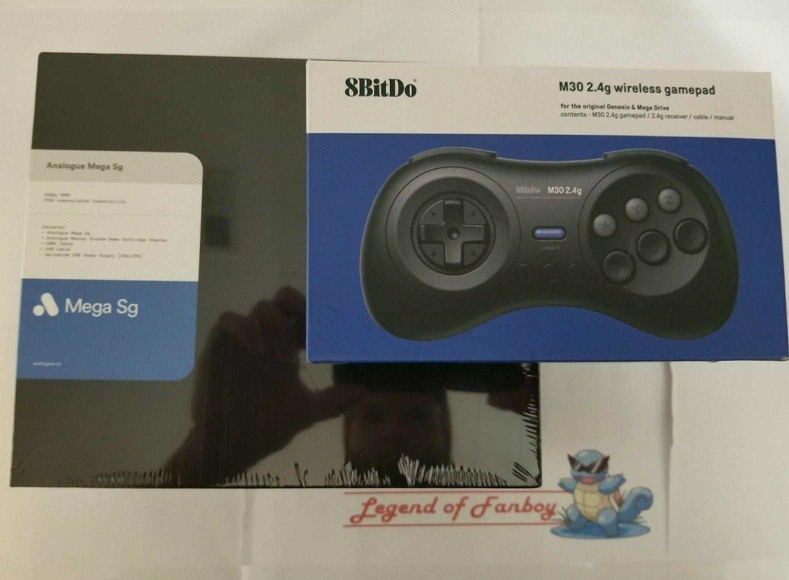NEW * Analogue Mega SG Console USA Color + 8BitDo M30 controller - Sega Genesis