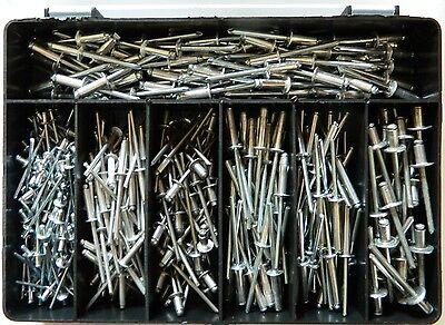 400 Teile Blindnieten Alu/Stahl Flachkopf  - Sortiment NEU  Standard Nieten