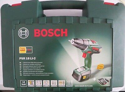 Akkubohrschrauber Bosch PSR 18 LI-2 Bosch 0.603.956.S0B 18 V + 1 Akku + Koffer