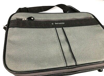 Vintage Samsonite Silhouette 4 Carry On Grey Black Very Nice