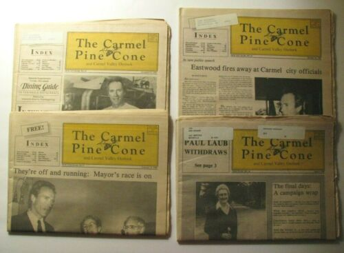 *CLINT EASTWOOD 1985-86 OOP *CARMEL PINE CONE* ISSUE LOT – CARMEL MAYOR'S RACE*