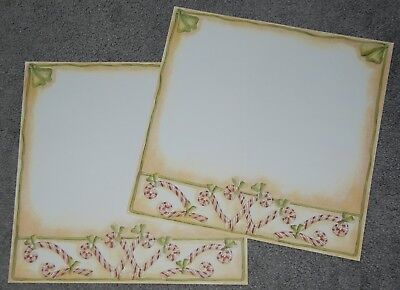 (Christmas, Candy Canes 12x12 Scrapbook Paper By Provo Craft – 2 Sheets)
