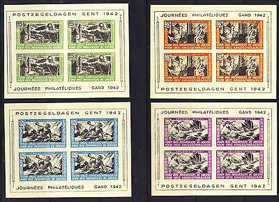 wwII Genter Ausgabe Legion 1939-45 Mi. XXI-XXIV-XIV ungezähnt (*) Fälschung