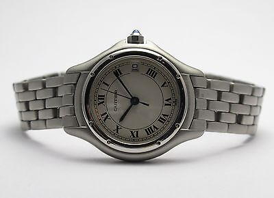 CARTIER COUGAR LADIES STAINLESS STEEL QUARTZ WATCH STYLE #121000R