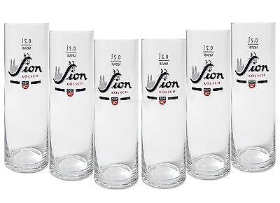 Sion Kölsch Glas / Gläser / Stangen - 6x 0,2L