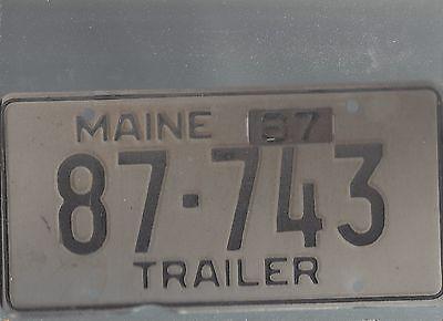 Vintage 1967 MAINE CAR  license plate 87-743