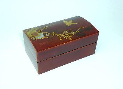 Wooden Box / Can / Casket Japan um 1900 Signed B-10236
