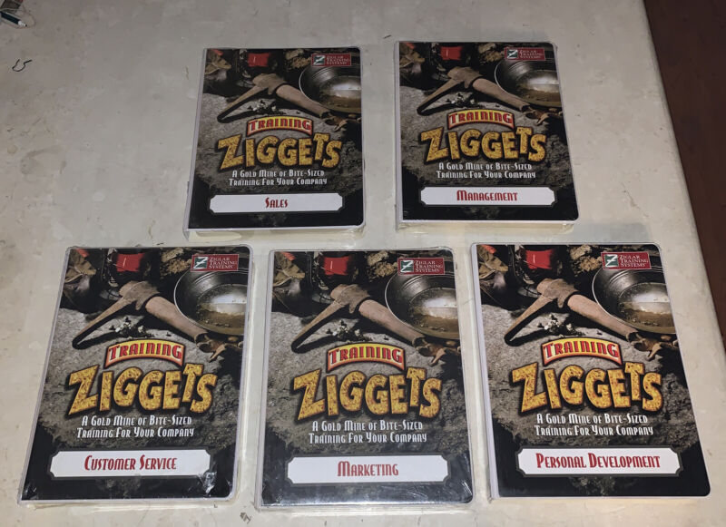Zig Ziglar's Ziggets: Sales Training Program VHS/Cassette/Booklet 5 Part Series