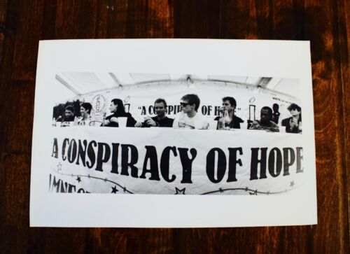 Vintage Photo Amnesty International Tour 8 x 12 Orig BW Photo (Bono, Sting, etc)