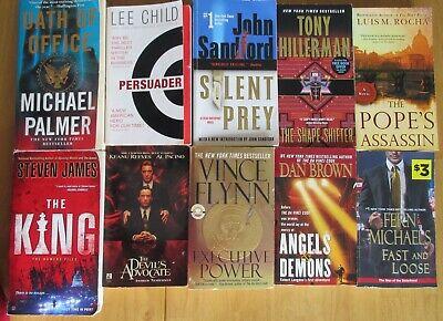 10 OF THE BEST FICTION PB NOVELS:  VINCE FLYNN, LEE CHILD, HILLERMAN AND (Best Lee Child Novels)