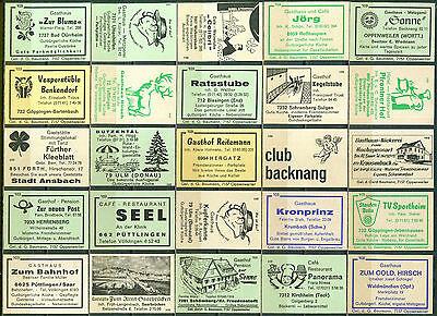25 alte Gasthaus-Streichholzetiketten aus Deutschland #567
