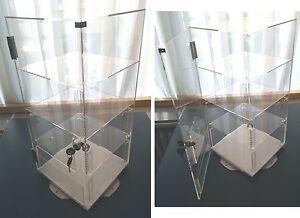 Plexiglas Schaukasten,Vitrine aus Acrylglas abschliessbar mit Drehteller