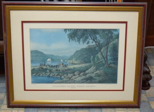 2 matching vintage prints framed of West Point Military Academy