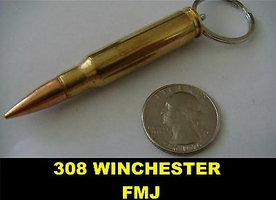 REAL BULLET KEYCHAIN 7.62X51 308 WINCHESTER FMJ