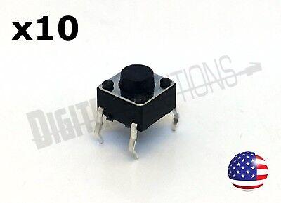 (10) Mini Tactile Push Button Momentary Switch 6x6x5mm 4-pin DIP-4 - 10pcs