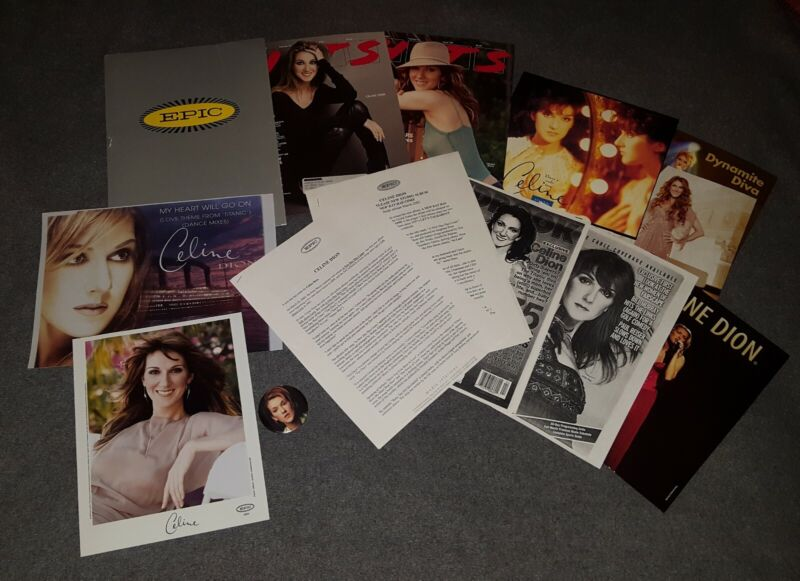 "CELINE DION "" A NEW DAY HAS COME "" PRESS KIT W/ 2 COLOR PHOTO W BIO & TEAR OUT++"