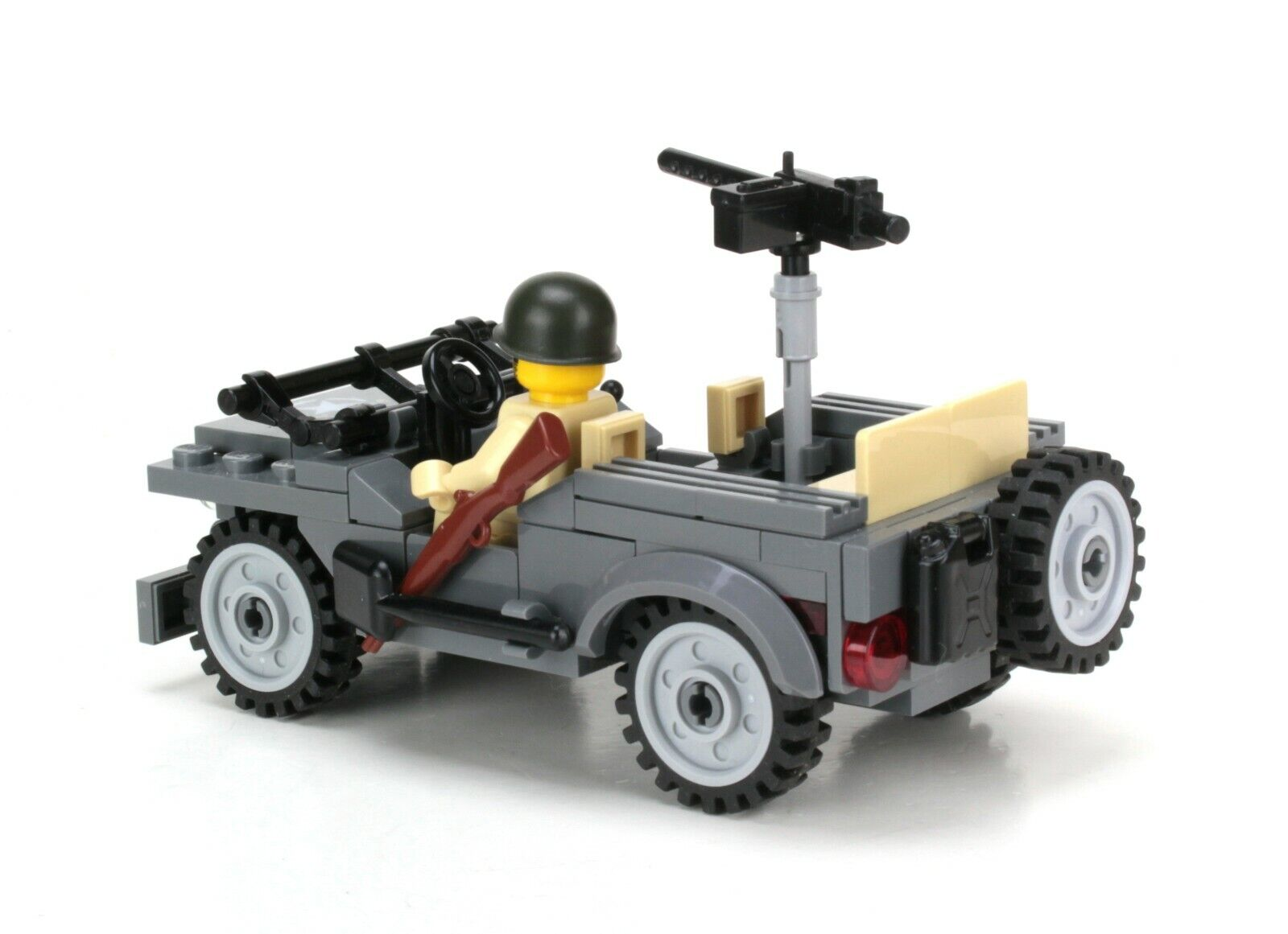 Willys Jeep World War 2 Army Builder Complete Custom Set made with real LEGO®