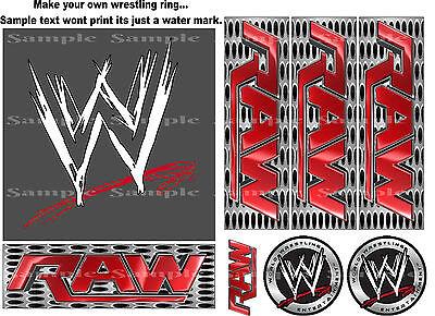 WWE RAW EDIBLE ICING CAKE TOPPER & SIDES - KIT MAKE YOUR OWN WRESTLING RING CAKE (Wwe Ring Cake)