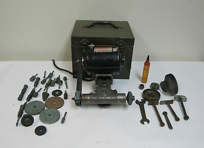 Precision Dumore 44-011 Tool Post Grinder W Case Motor Spindle