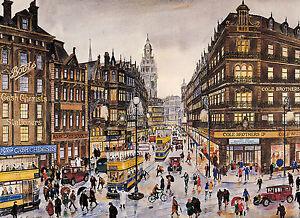 George Cunningham - Coles Corner - Sheffield Print