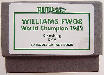 Romu Kit (Tenariv) - RK 08 - 1/43 - 1982 Williams FW08 - Swiss GP - F1 - RARE