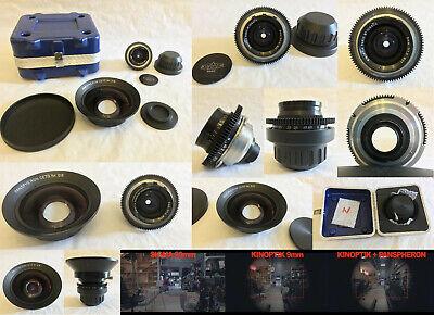 KINOPTIK 9mm f/1.5 T1.7 9mm SUPER-16MM 16 mm BMPCC Lens + PANSPHERON CETO 5.5mm comprar usado  Enviando para Brazil