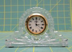 Vintage Godinger Crystal Legends Hand Crafted Lead Crystal Mantle Clock 4 x 2.5