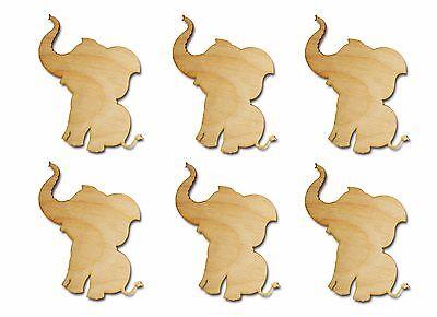 Elephant Shape Unfinished Wood Animal Cutouts 3