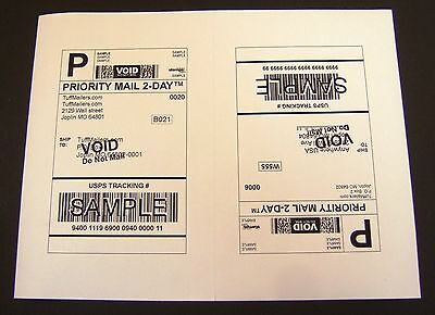Labels 8 5X5 5   600 Shipping Labels Half Sheet Self Adhesive Usps Ups Fedex